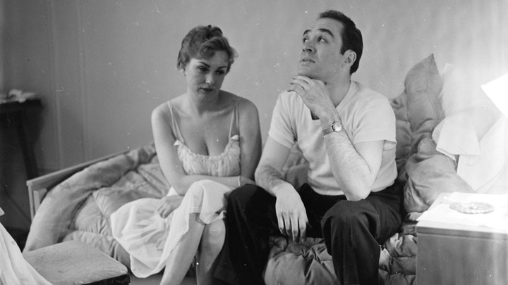 circa 1955: A married couple contemplating divorce. (zPhoto by Orlando /Three Lions/Getty Images)